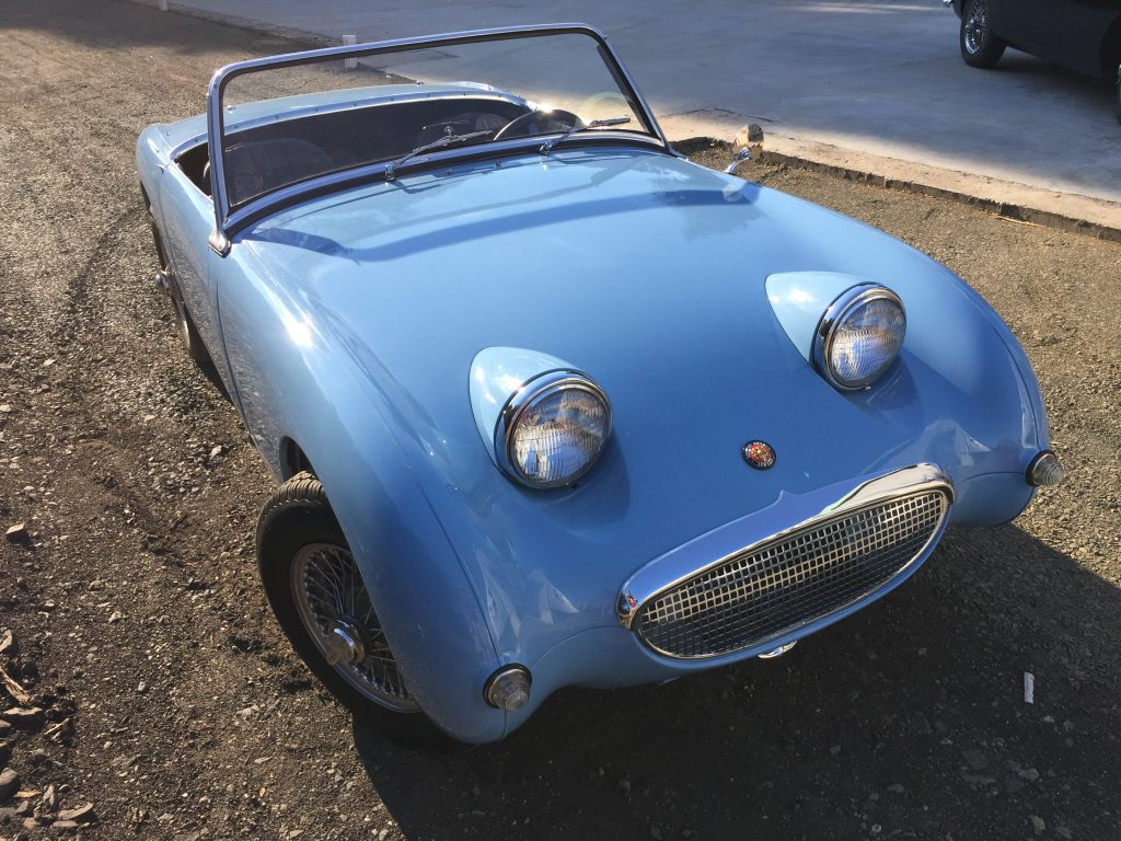 1959 Restored Bugeye Sprite for sale- VIDEO @ 70MPH! Five-speed, 1275 engine, disc brakes, wire wheels and more!