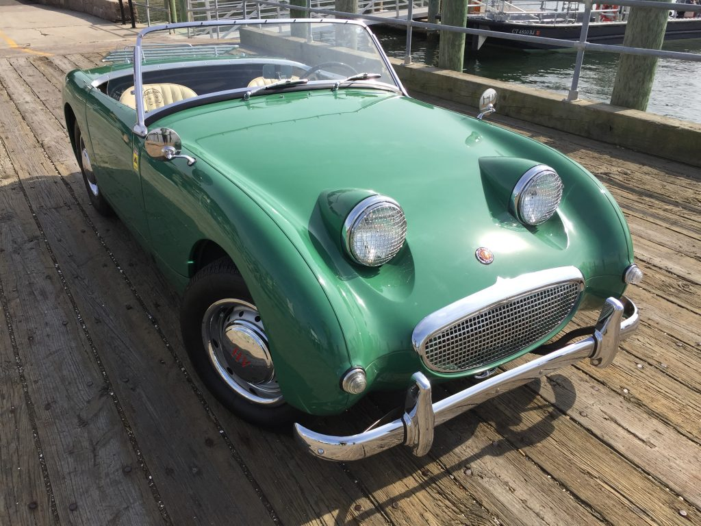"1958 Excellent Restored Leaf Green 1275 Bugeye Sprite for sale, ""Luigi!"""