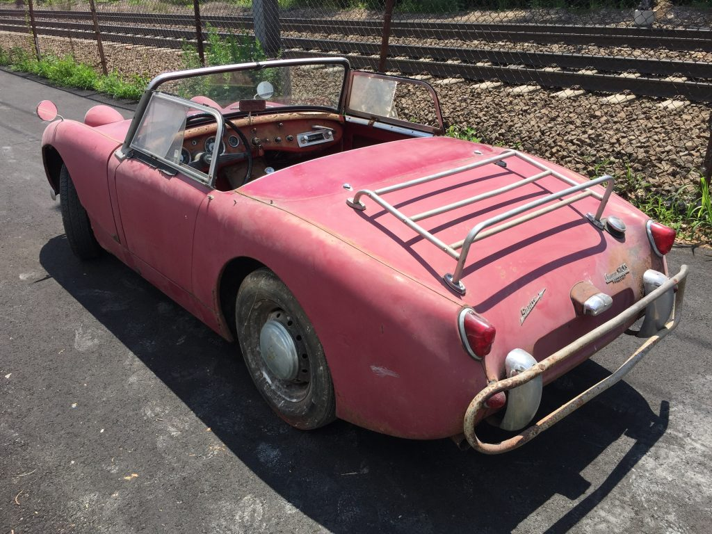 1960 Austin Healey Bugeyes Sprite Barn find for sale! Stored since 1974!