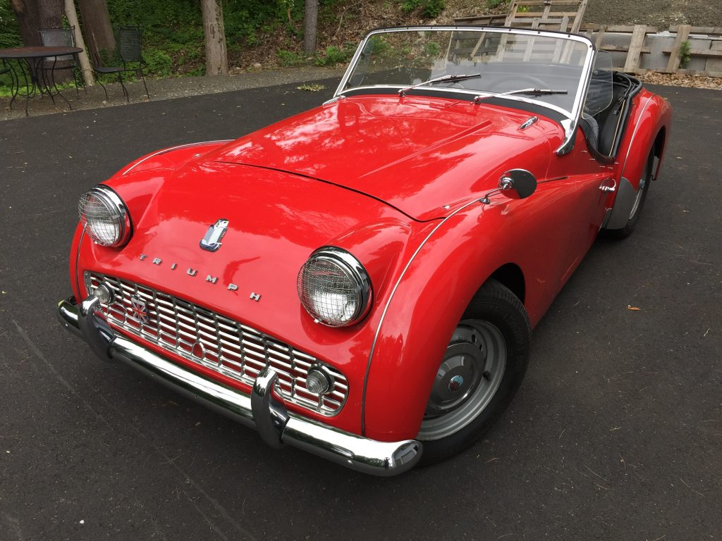 Striking 1961 Triumph TR3A for sale