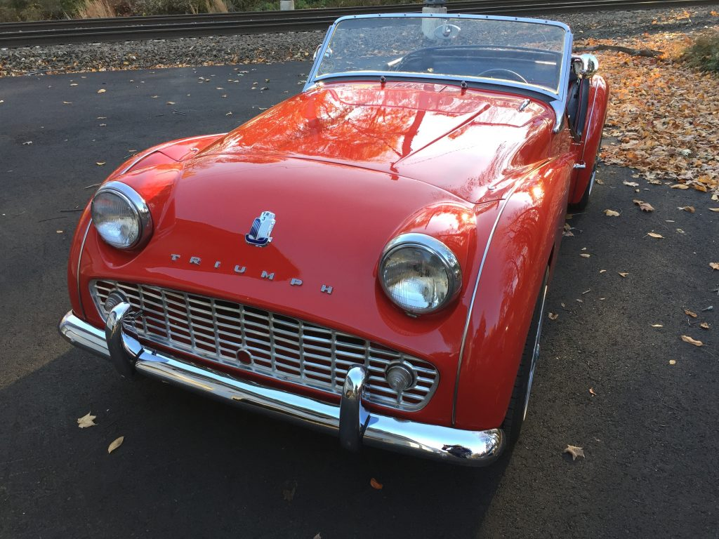Restored 1960 TR3 for sale w/5 Speed!