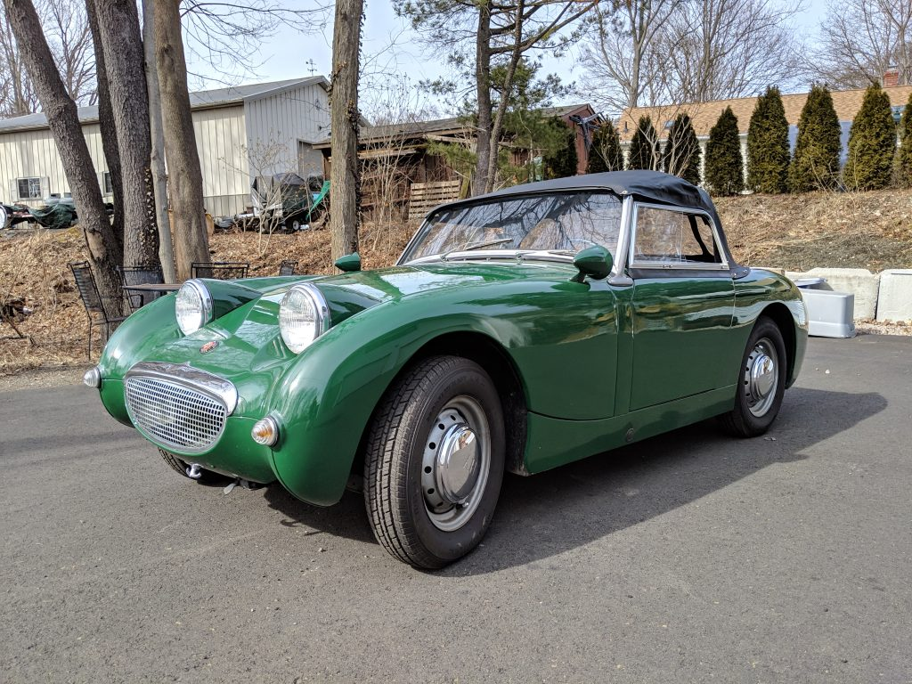 1960 Austin Healey Bugeye Sprite for sale– Freshly rebuilt 1275 engine and disk brakes!