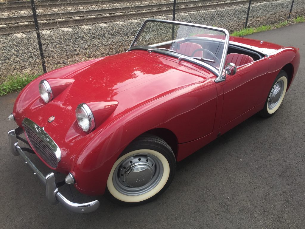 Outstanding 1960 cherry Red Bugeye Sprite for sale