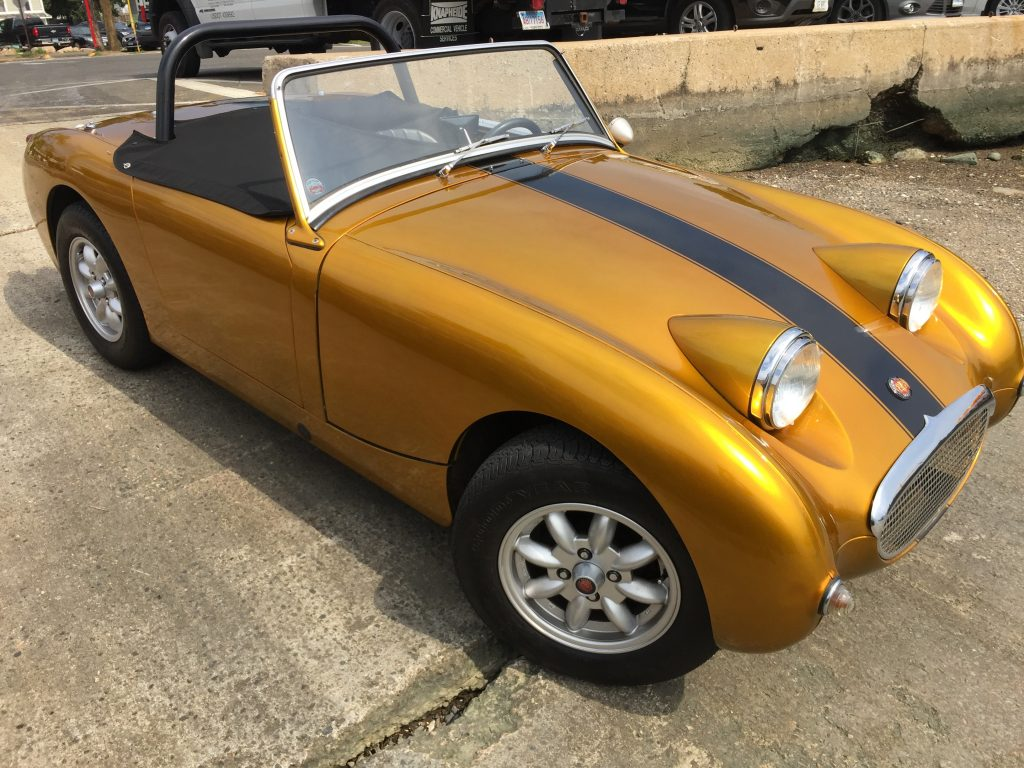 Striking five speed 1959 Bugeye Sprite for sale! New Video!